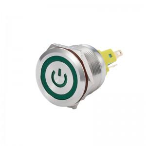 22mm电源环形带绿灯